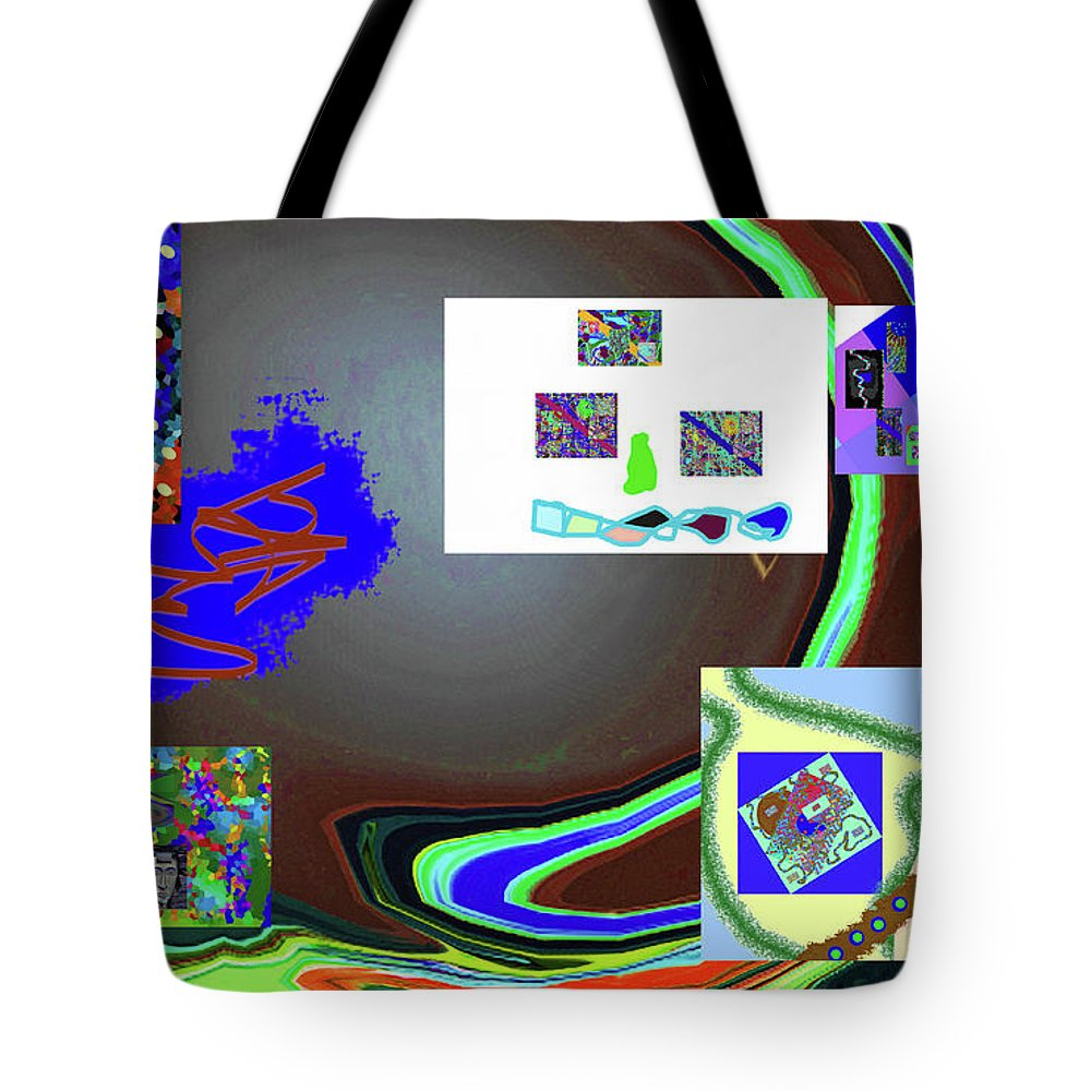 Walter Paul Bebirian Tote Bag featuring the digital art 6-3-2015babcdefghij by Walter Paul Bebirian
