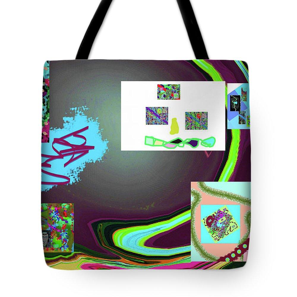 Walter Paul Bebirian Tote Bag featuring the digital art 6-3-2015babcdefghijklmno by Walter Paul Bebirian
