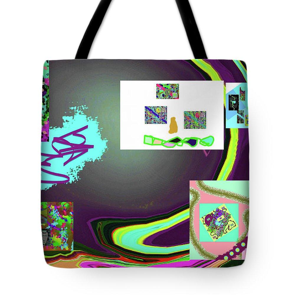 Walter Paul Bebirian Tote Bag featuring the digital art 6-3-2015babcdefghijklmnopq by Walter Paul Bebirian