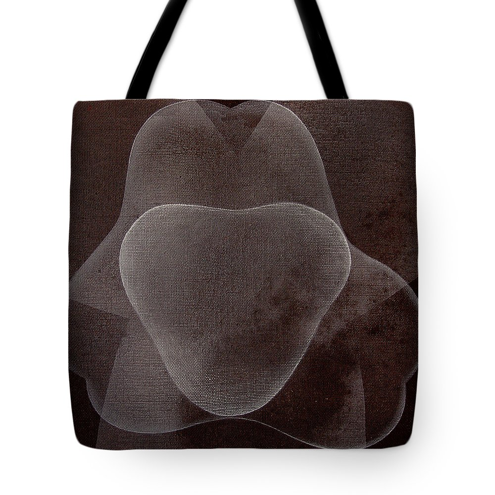 Abstract Tote Bag featuring the painting Abstract flower by Jitka Anlaufova