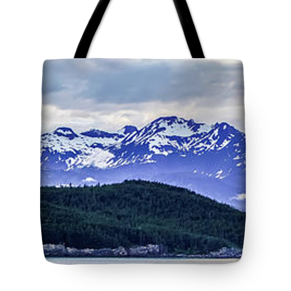 Alaska Tote Bag featuring the photograph Alaska Nature And Mountain In June At Sunset by Alex Grichenko