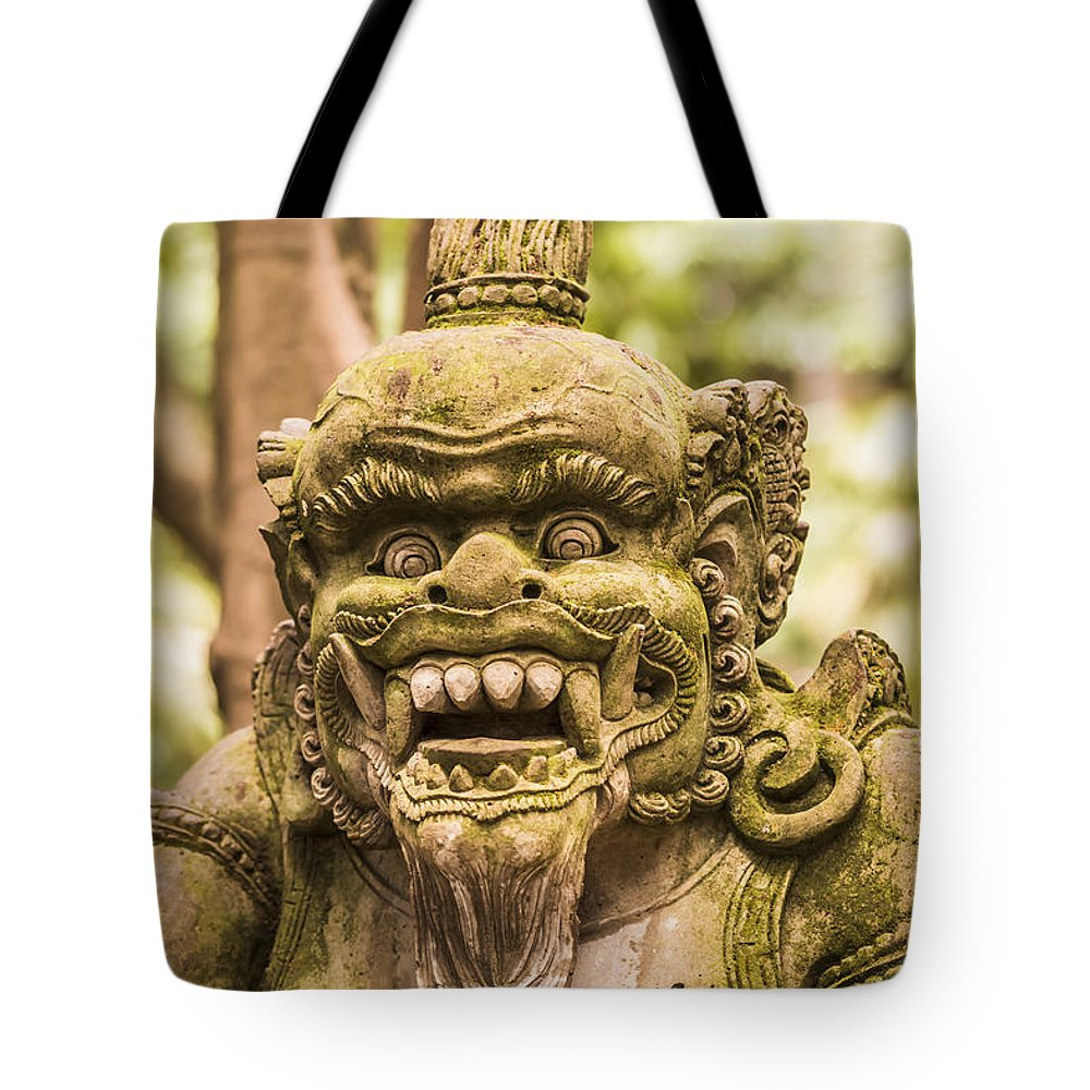 Architecture Tote Bag featuring the photograph Bali Sculpture by Jijo George