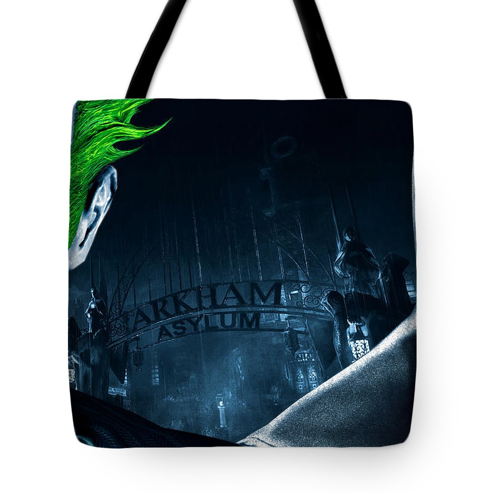 Batman Tote Bag featuring the digital art Batman by Maye Loeser