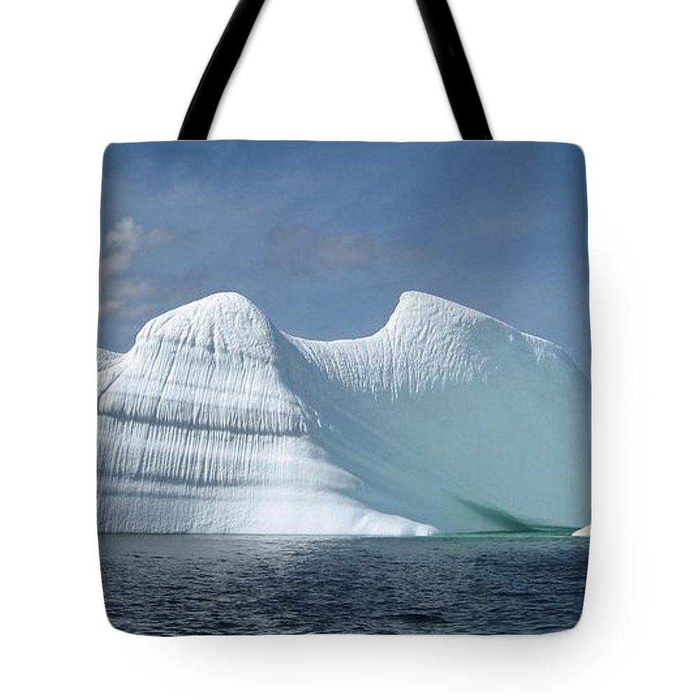 Iceberg Photograph Ice Water Ocean Sea Atlantic Summer Newfoundland Tote Bag featuring the photograph Iceberg by Seon-Jeong Kim