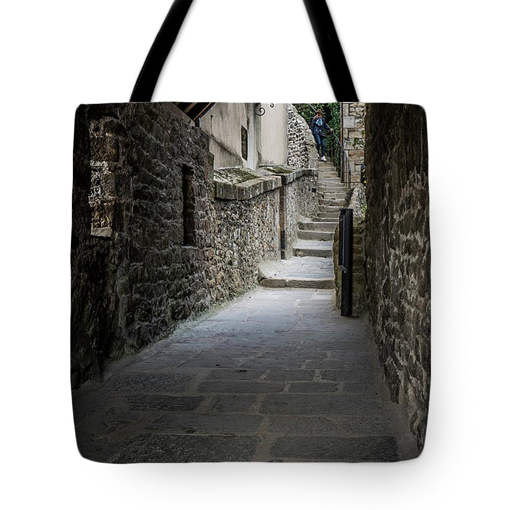 Water Tote Bag featuring the photograph Le Mont Saint Michel by Jason Steele