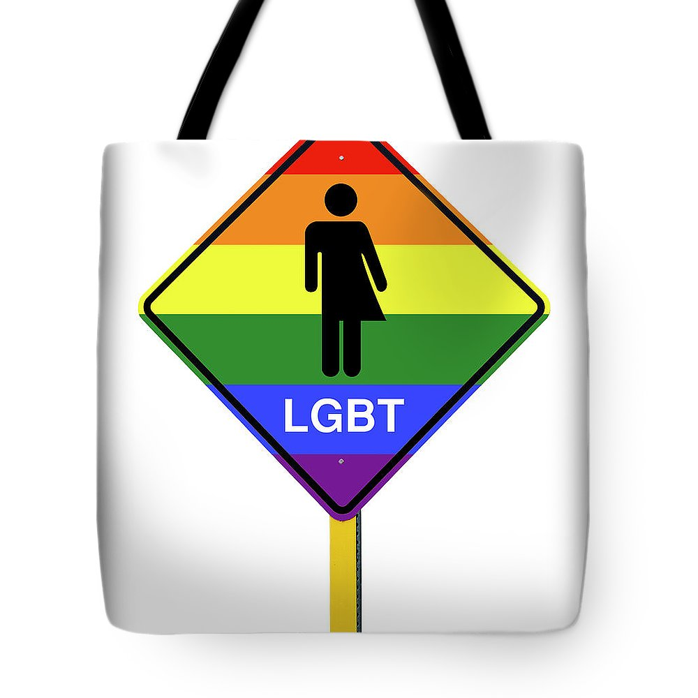 lgbt logo caution road with rainbow flag sign isolated tote bag for rh fineartamerica com caution logo vector caution logicorehsv