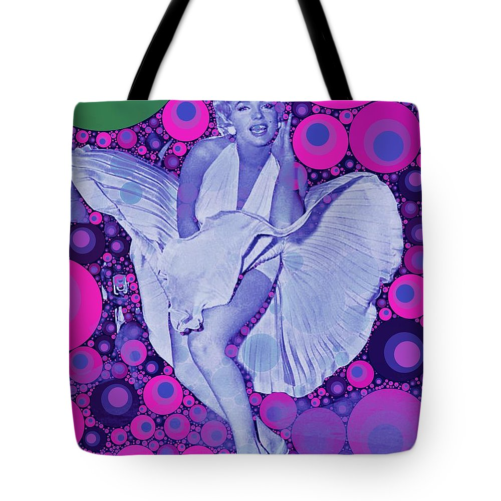 Hollywood Tote Bag featuring the digital art Marilyn Monroe by John Springfield