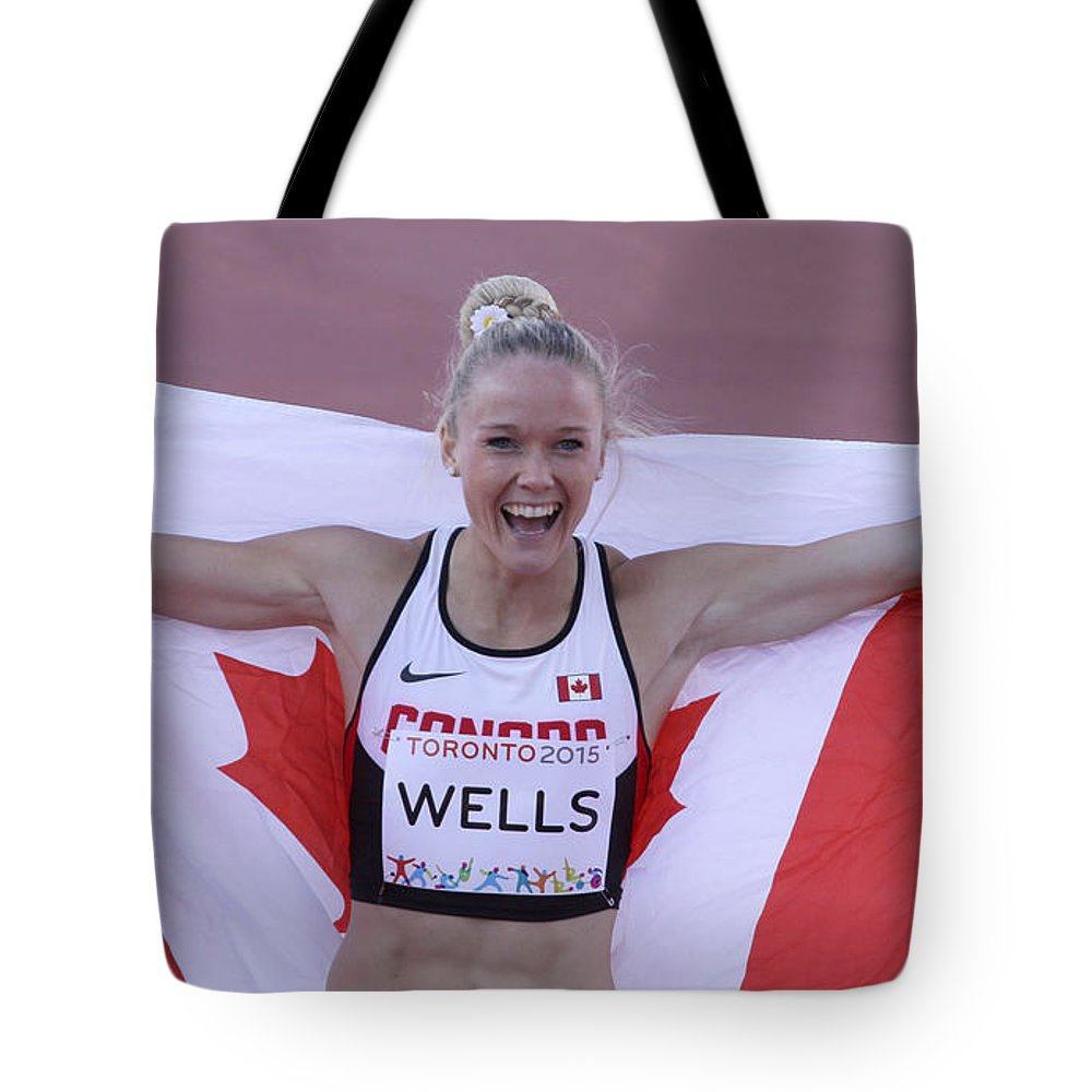 400 Metres Tote Bag featuring the photograph Pam Am Games Athletics by Hugh McClean