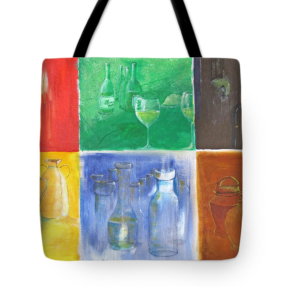 Canvas Tote Bag featuring the painting 6 Panes Of Existence by Gary Smith