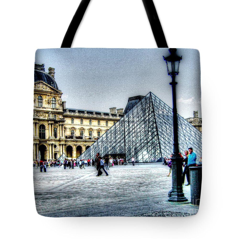 Paris Francecity Tote Bag featuring the pyrography Paris France by Yury Bashkin