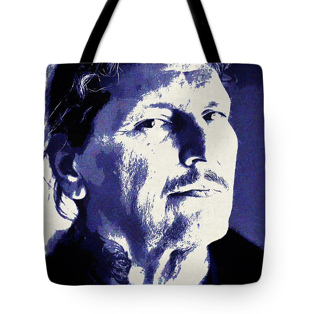 People Tote Bag featuring the digital art People by Lora Battle