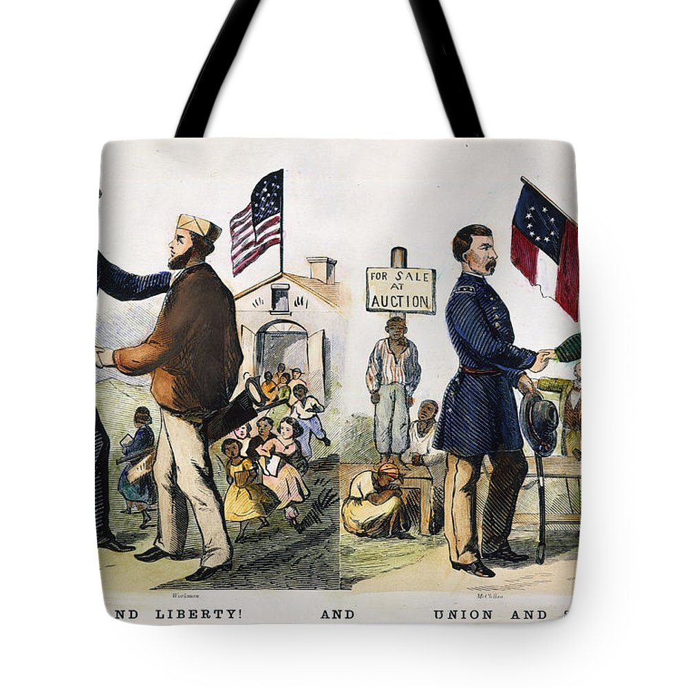 1864 Tote Bag featuring the photograph Presidential Campaign, 1864 by Granger