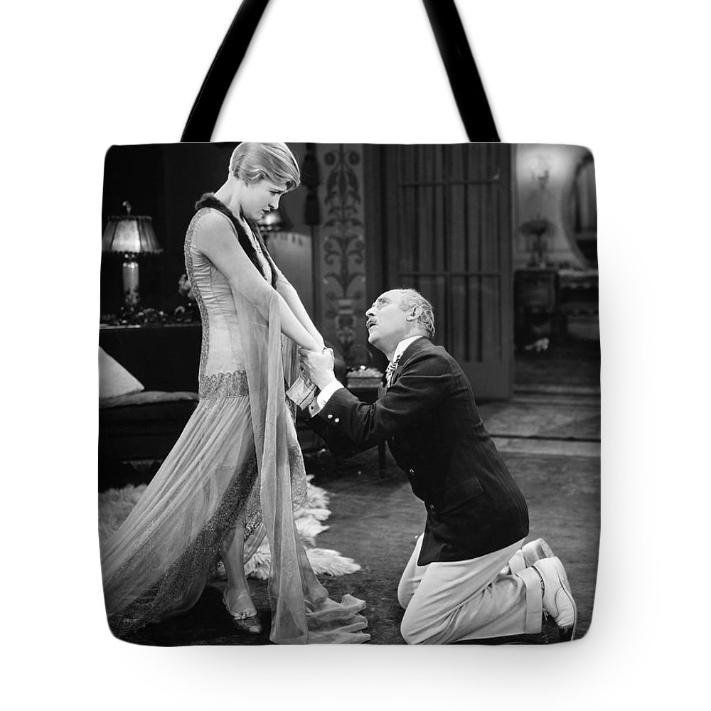 -couples- Tote Bag featuring the photograph Silent Film Still: Couples by Granger