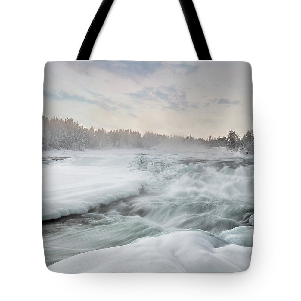 Storforsen Tote Bag featuring the photograph Storforsen - Sweden by Joana Kruse