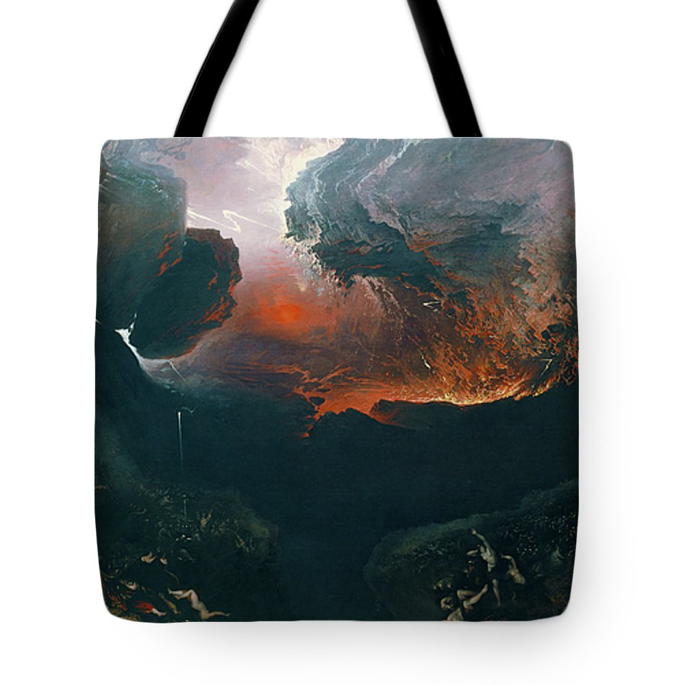 Bible Tote Bag featuring the painting The Great Day Of His Wrath by John Martin