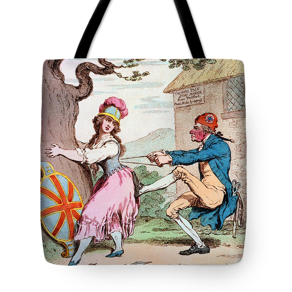 1793 Tote Bag featuring the photograph Thomas Paine (1737-1809) by Granger