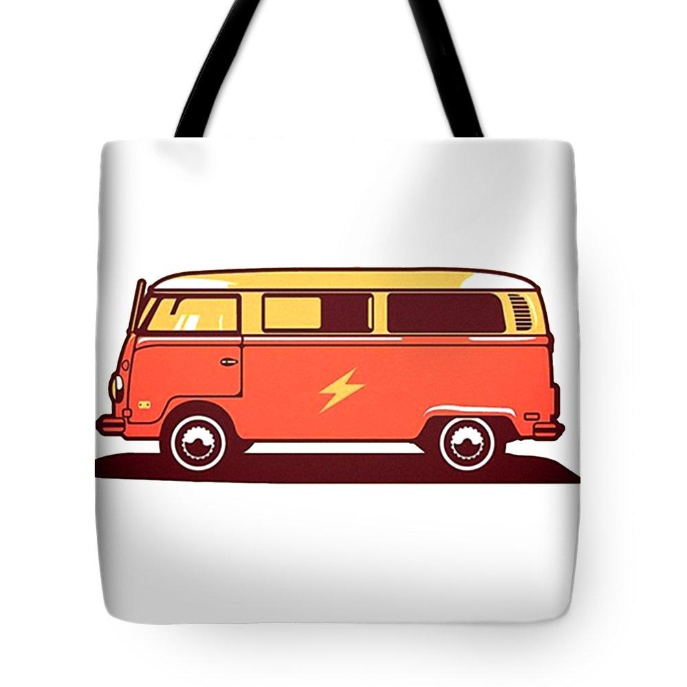 Volkswagen Tote Bag featuring the digital art Volkswagen by Sari Kenday