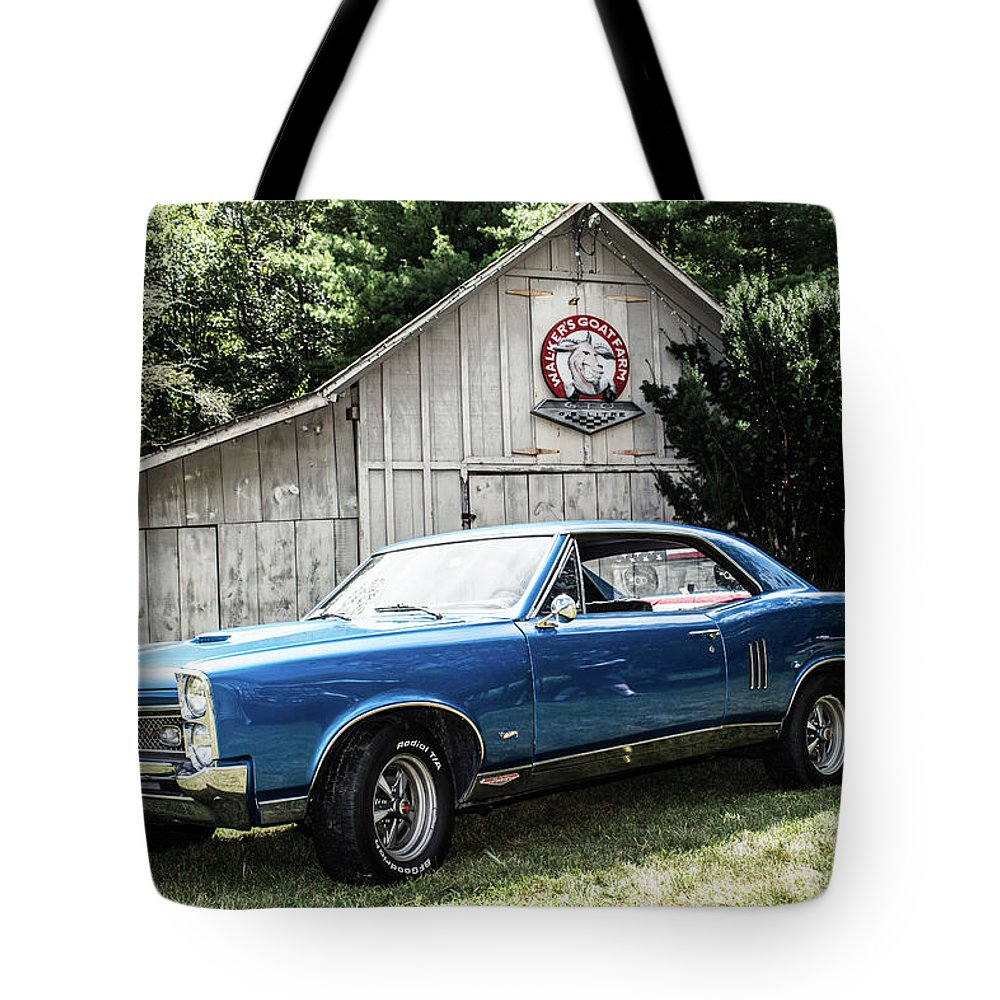 Gto Tote Bag featuring the photograph Classic Cars by Mickie Bettez