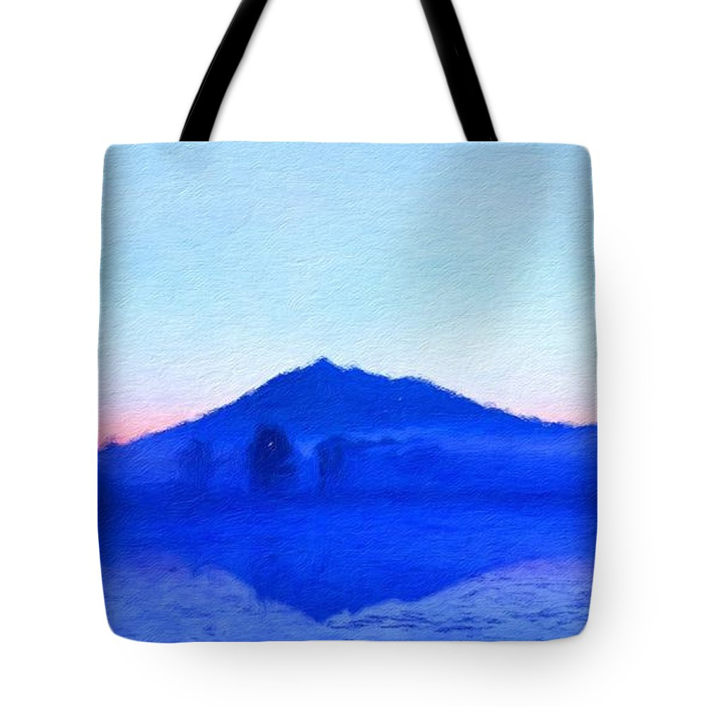 Landscape Tote Bag featuring the painting Landscape Nature Pictures by World Map