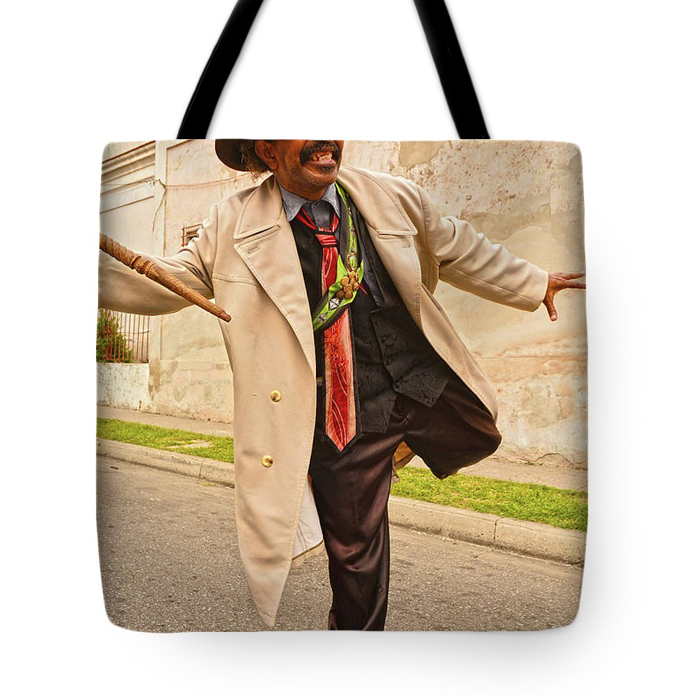 Tote Bag featuring the photograph Traversing Santiago De Cuba, Cuba. by Roberto Montes