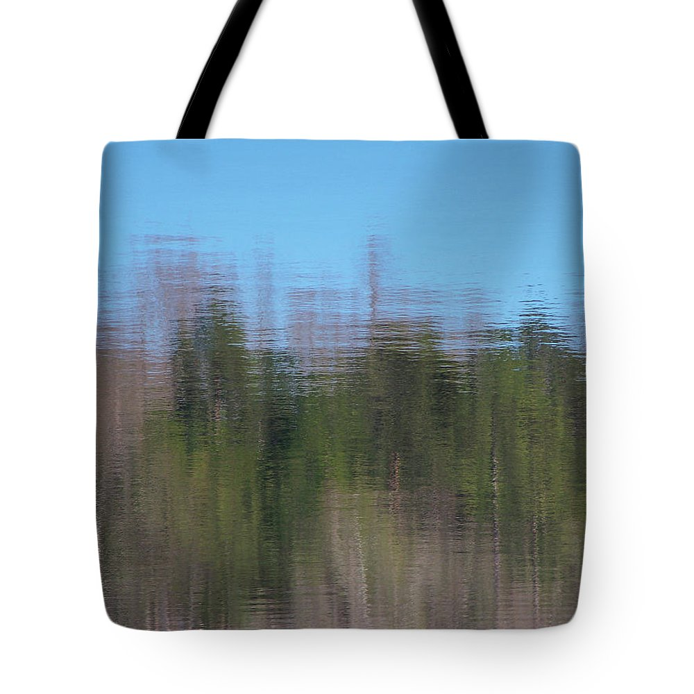 Reflections Tote Bag featuring the photograph 6000-reflections by Martha Abell