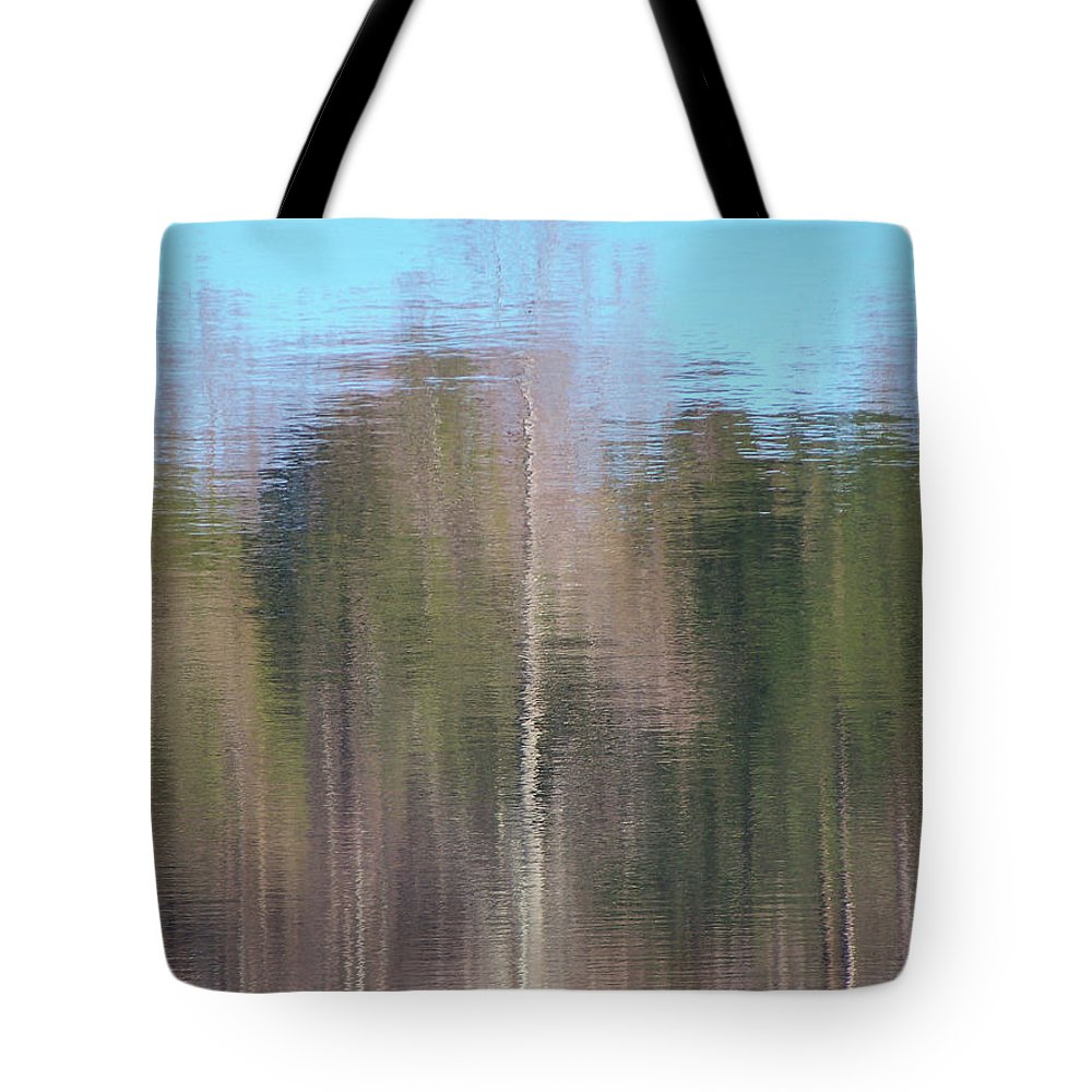 Reflections Tote Bag featuring the photograph 6001-reflections by Martha Abell