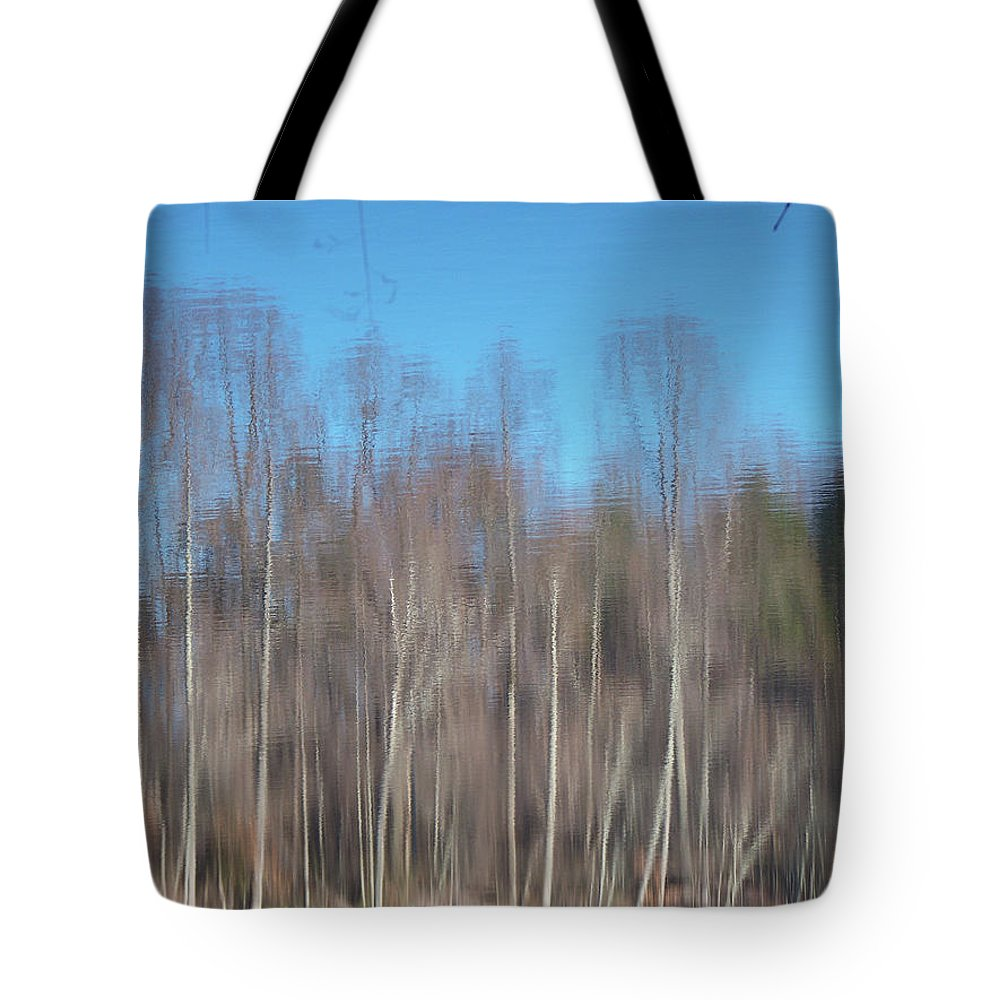 Reflections Tote Bag featuring the photograph 6003-reflections by Martha Abell