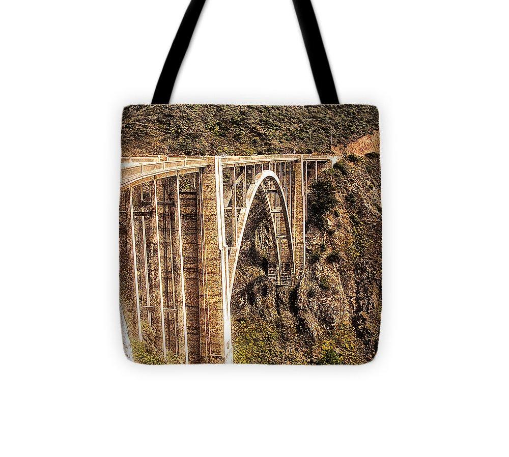 Print Tote Bag featuring the photograph 605 Det Big Sur Bridge 2 by Chris Berry