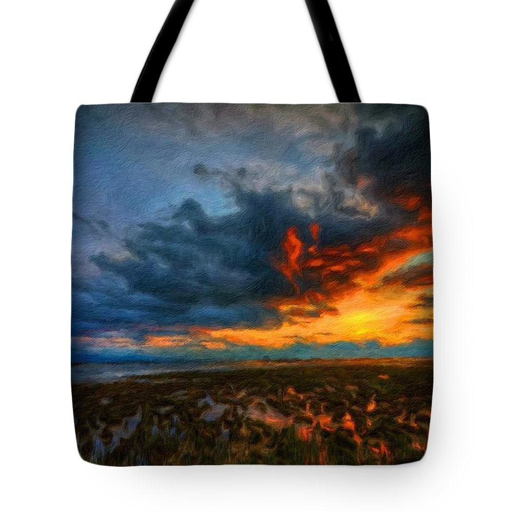 Landscape Tote Bag featuring the painting Nature Landscape Jobs by World Map