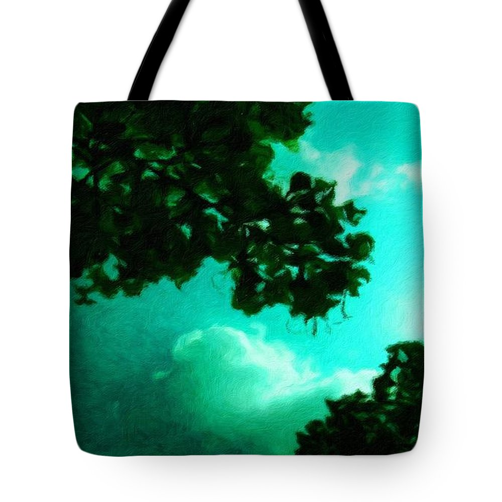 Landscape Tote Bag featuring the painting Painting Landscape by World Map