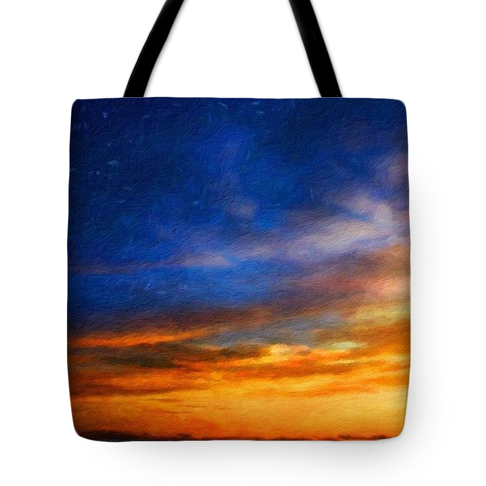 Landscape Tote Bag featuring the painting Nature Cool Landscape by World Map