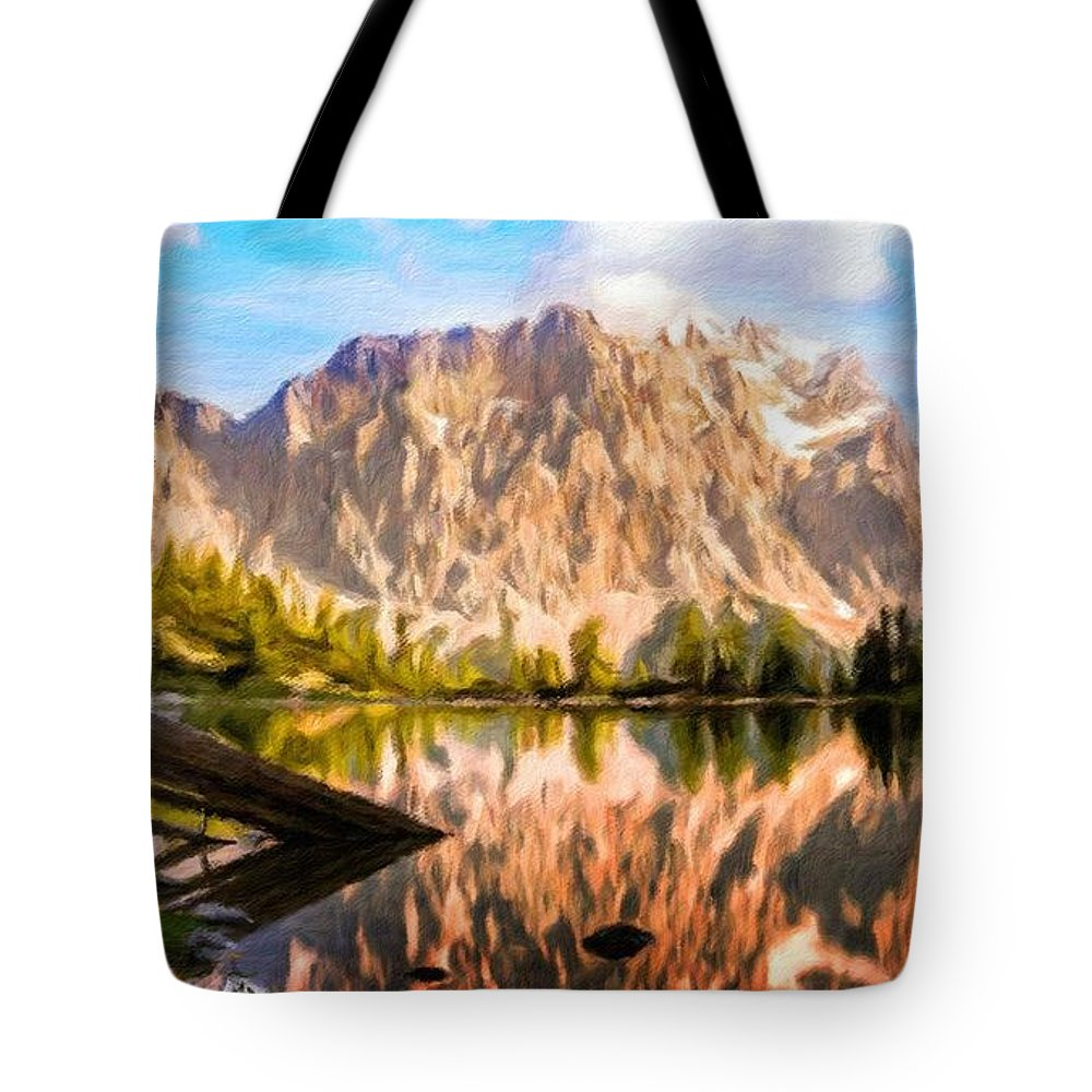 Landscape Tote Bag featuring the painting Nature Work Landscape by World Map