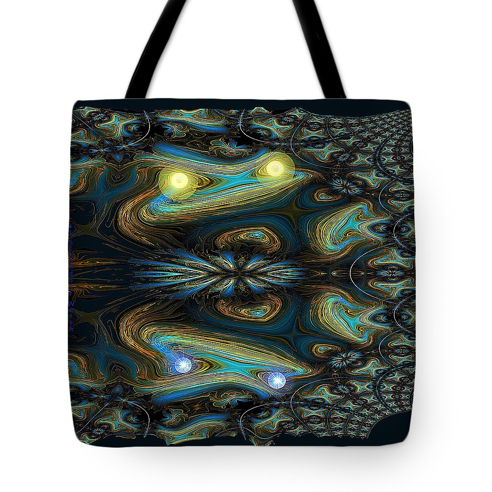 651 Tote Bag featuring the digital art 651 Speed Of Light by Irmgard Schoendorf Welch