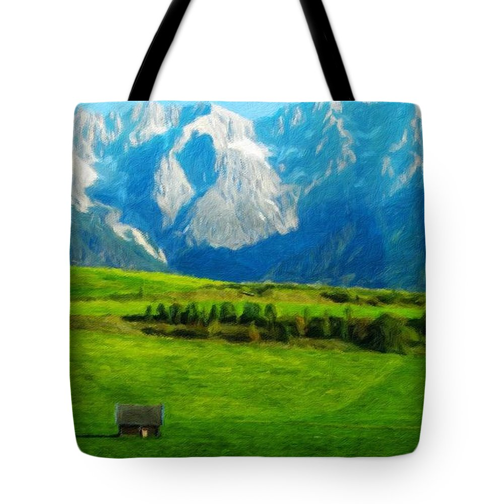 Landscape Tote Bag featuring the painting Nature Landscape Nature by World Map