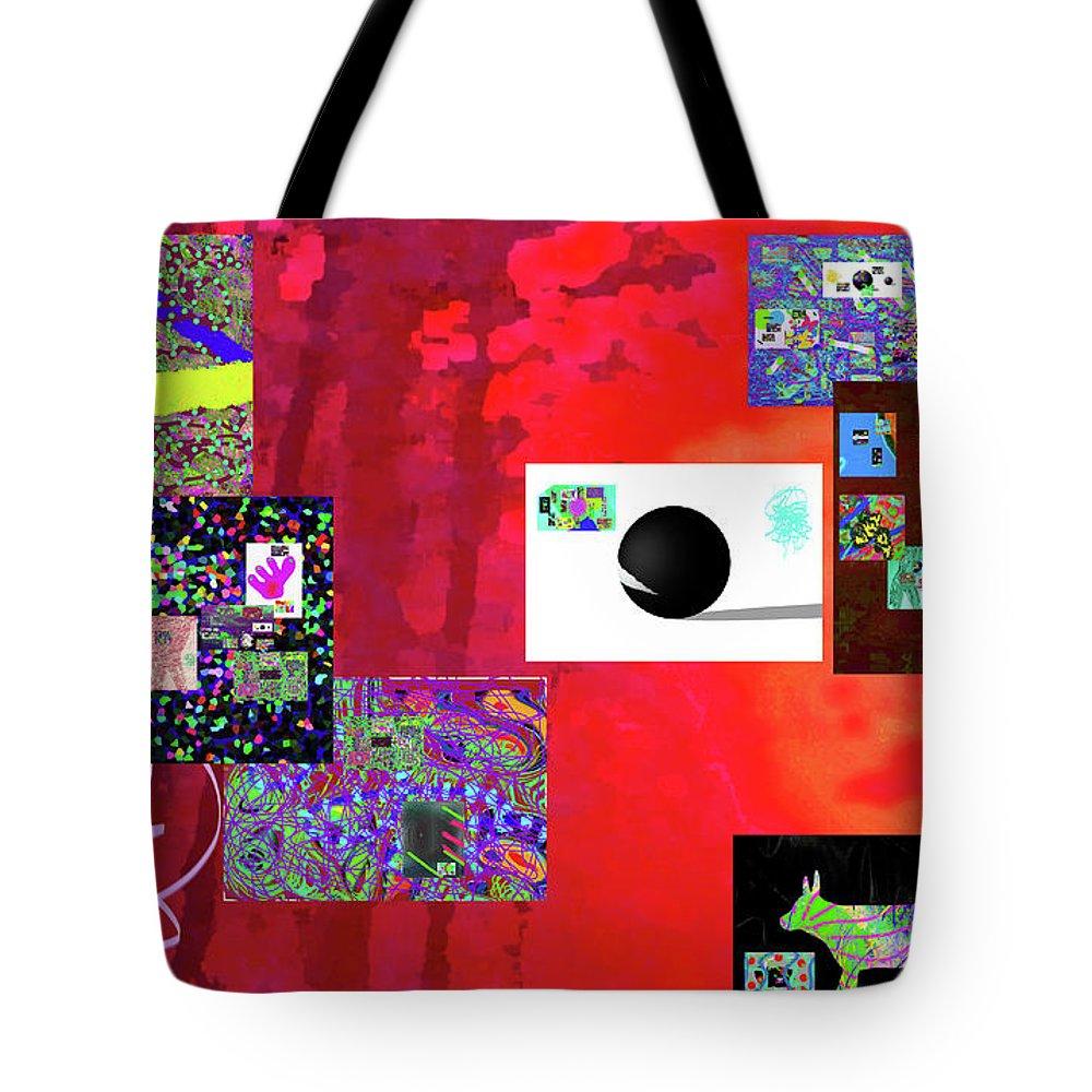 Walter Paul Bebirian Tote Bag featuring the digital art 7-30-2015fabcdefghijklmno by Walter Paul Bebirian