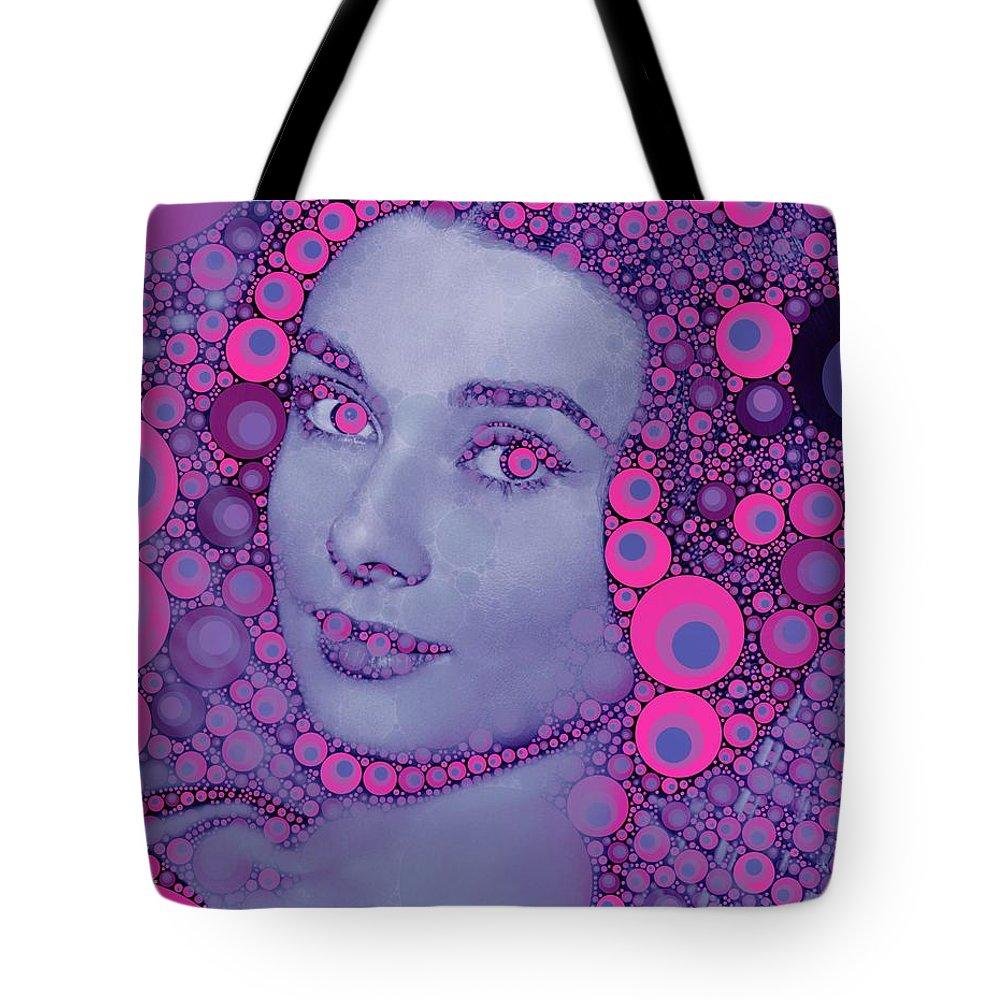 Hollywood Tote Bag featuring the digital art Audrey Hepburn by John Springfield