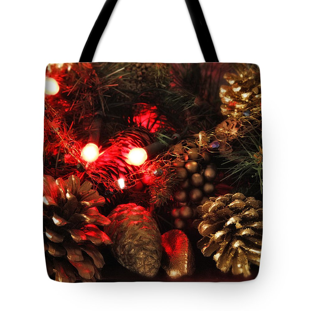 Christmas Tote Bag featuring the photograph Christmas Tree Decorations by Mal Bray