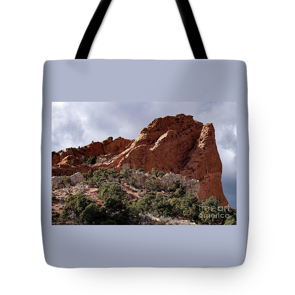 Colorado Springs Tote Bag featuring the photograph Garden Of The Gods by Jennifer Mitchell