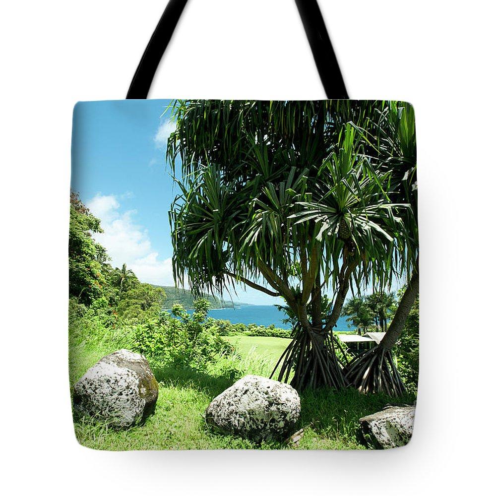 Keanae Tote Bag featuring the photograph Keanae Maui Hawaii by Sharon Mau