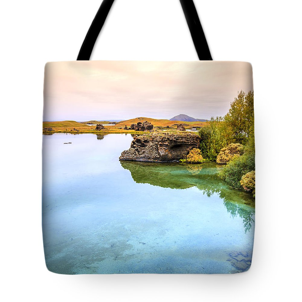 Europe Tote Bag featuring the photograph Lake Myvatn by Alexey Stiop