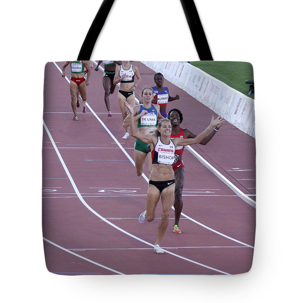 800 Metres Tote Bag featuring the photograph Pam Am Games Athletics by Hugh McClean