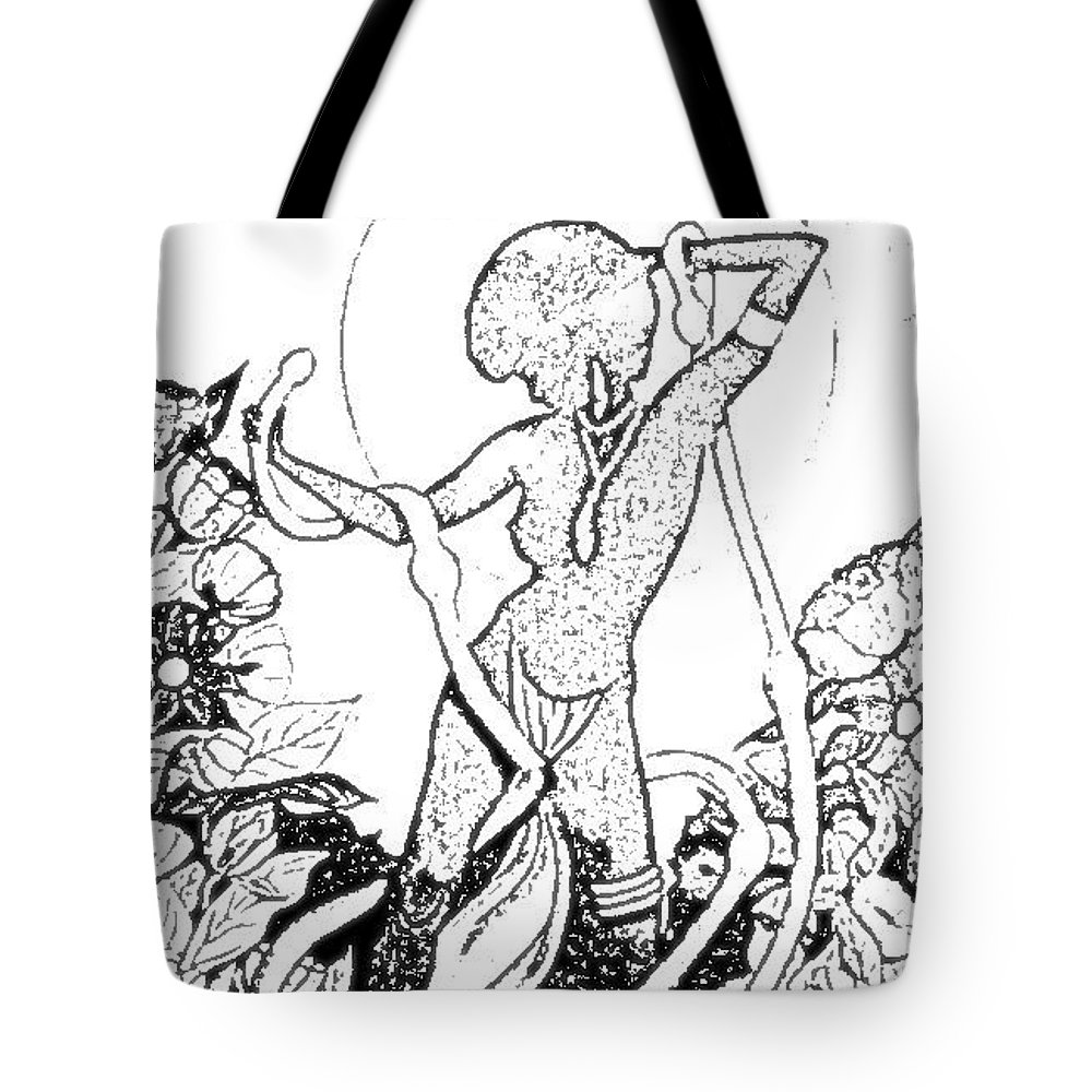 Pinups Tote Bag featuring the digital art Pinup by ReInVintaged