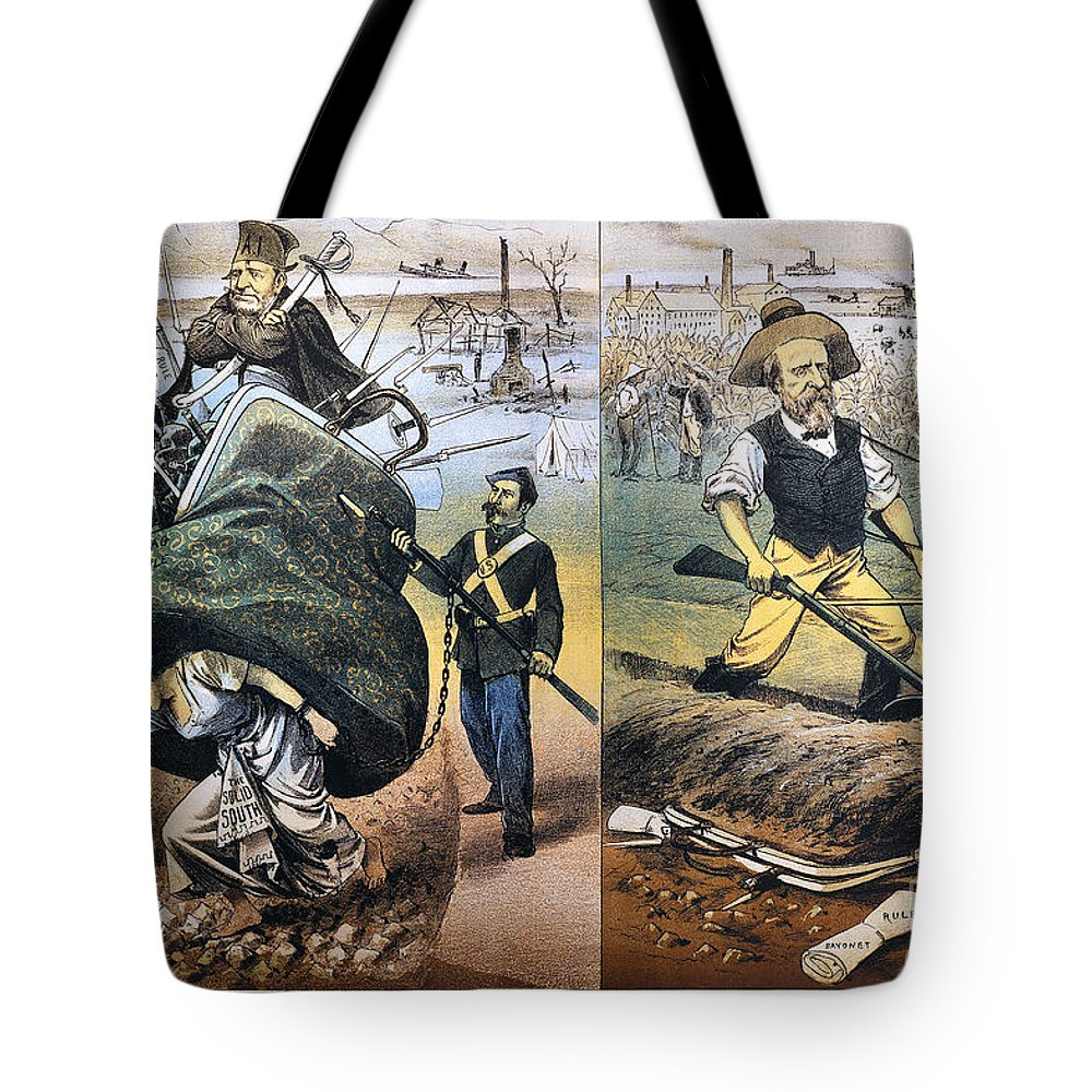 1880 Tote Bag featuring the photograph Reconstruction Cartoon by Granger