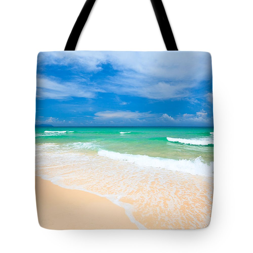 Background Tote Bag featuring the photograph Sandy Beach by MotHaiBaPhoto Prints