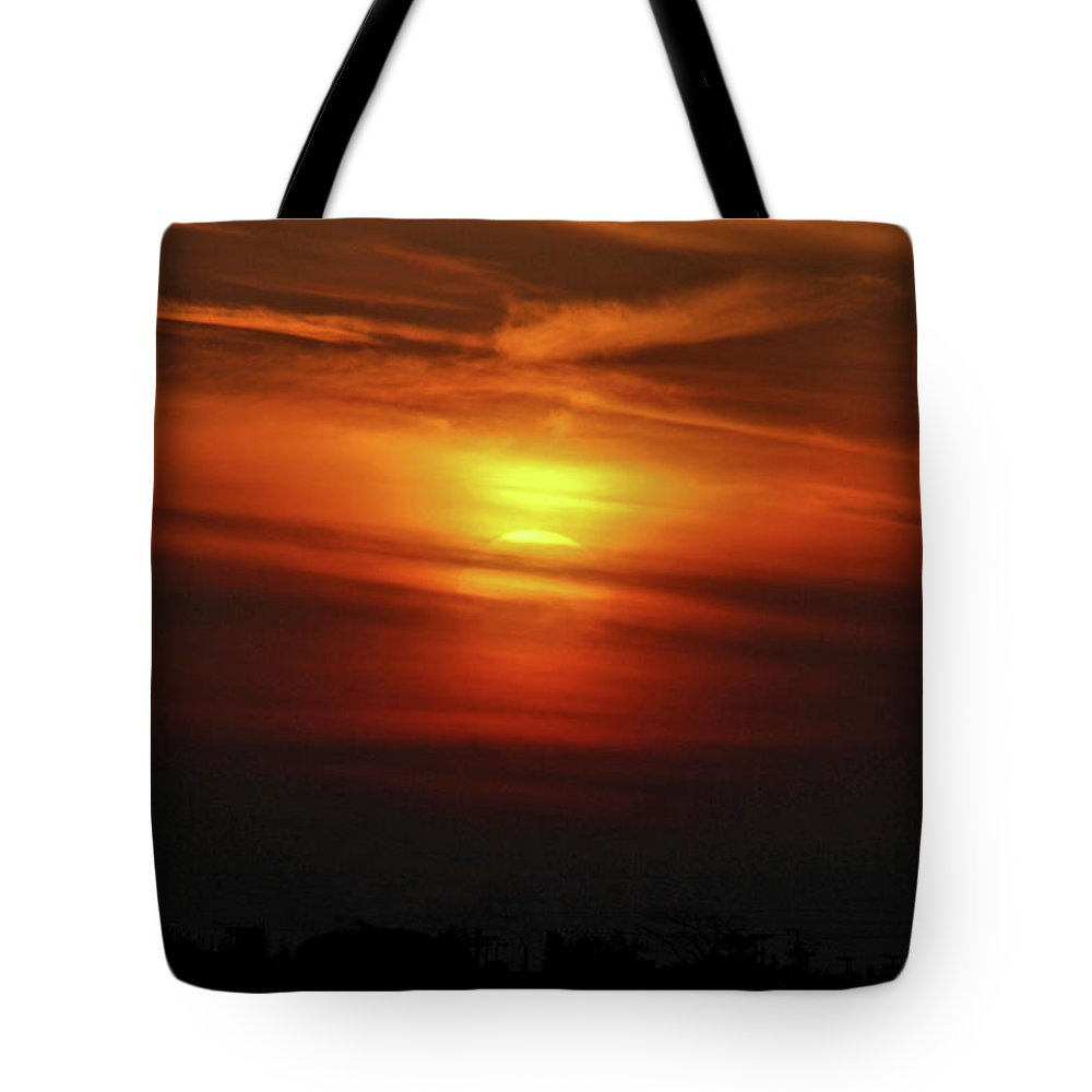 Sunset Tote Bag featuring the photograph 7- Sunset by Joseph Keane
