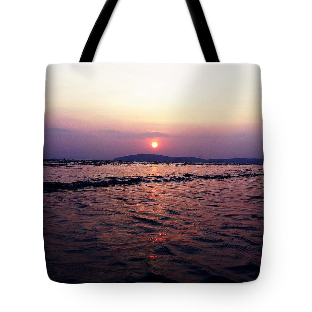 Sunset Tote Bag featuring the photograph Sunset by Julita Pietrzyk
