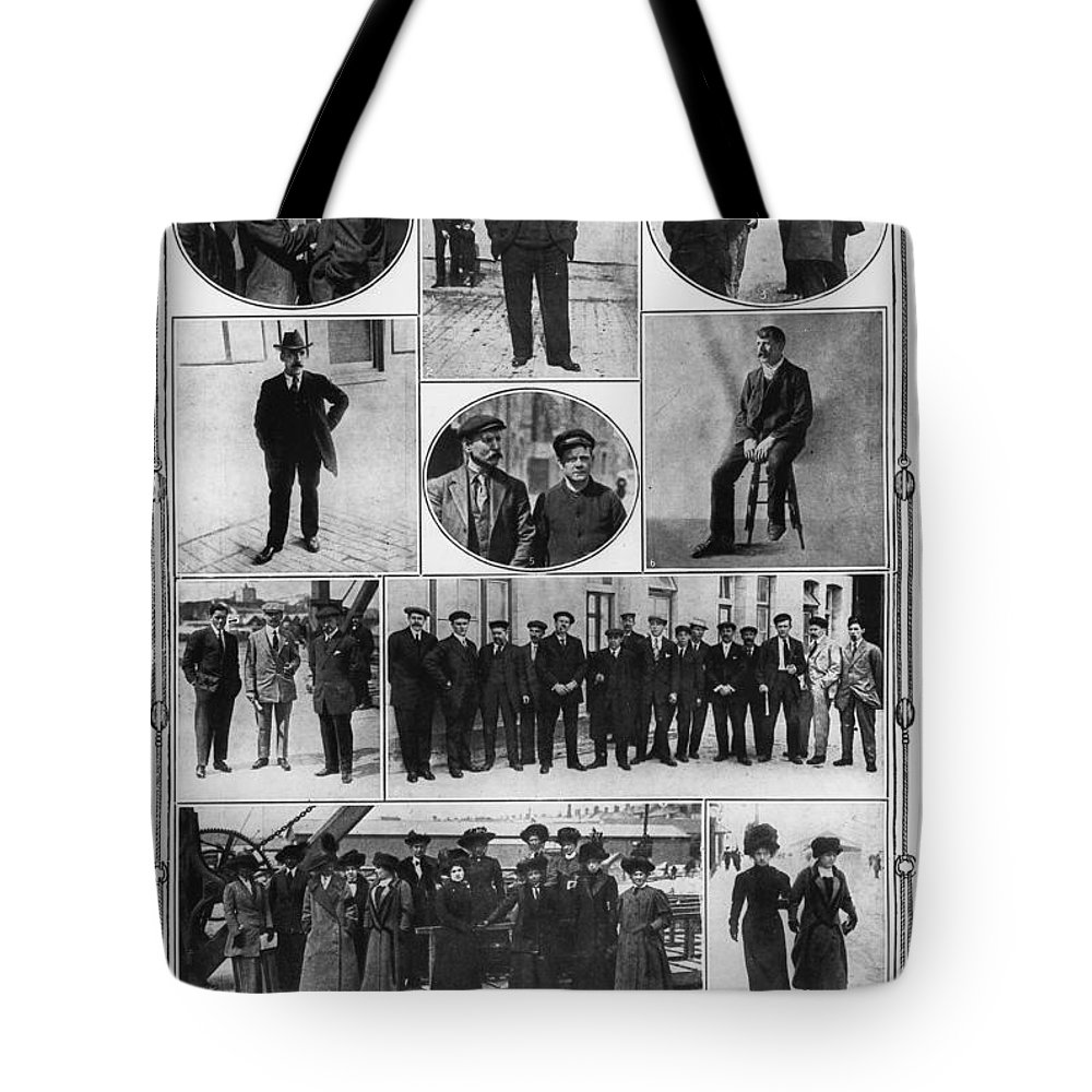 1912 Tote Bag featuring the photograph Titanic: Survivors, 1912 by Granger