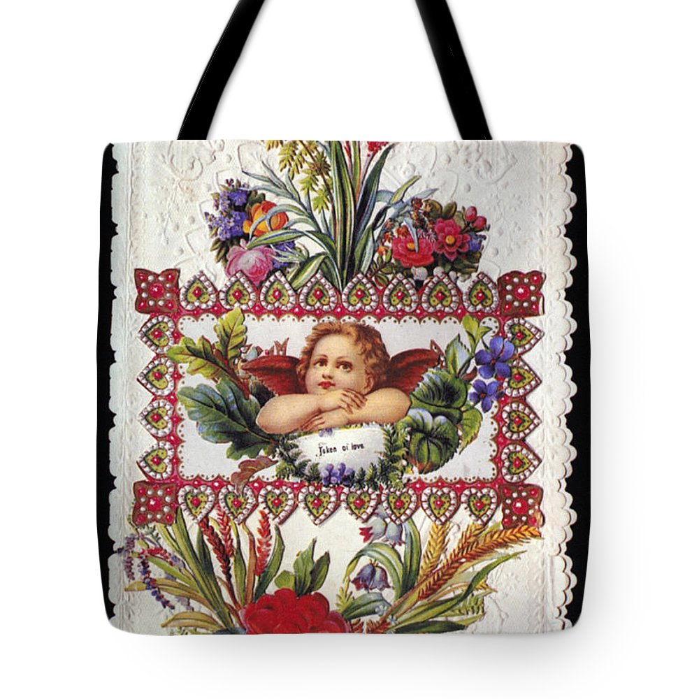 1890 Tote Bag featuring the photograph Valentines Day Card by Granger