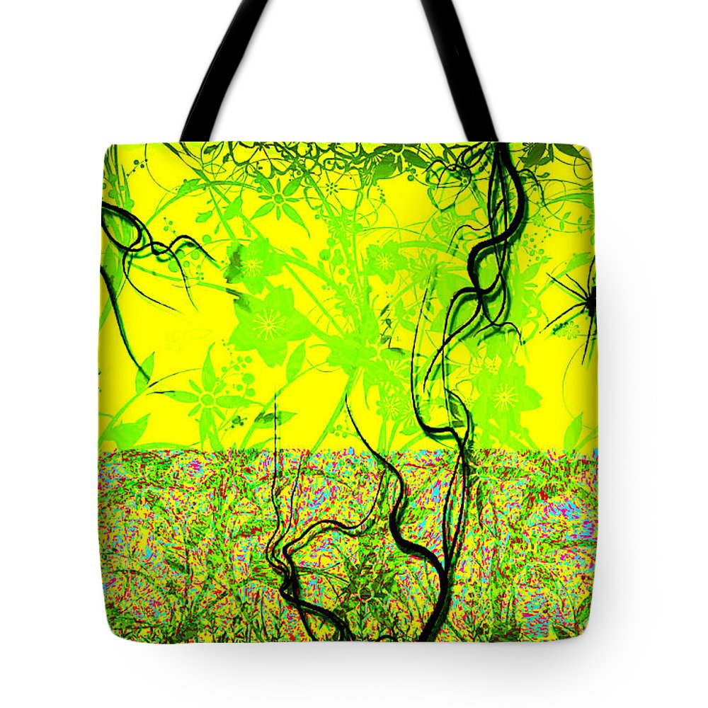 Artistic Tote Bag featuring the digital art Artistic by Lora Battle