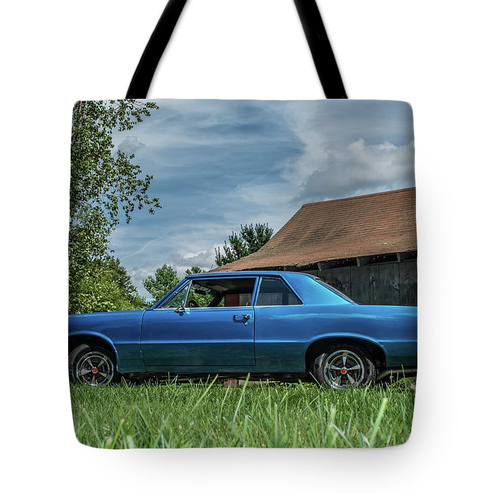 Lemans Tote Bag featuring the photograph Classic Cars by Mickie Bettez